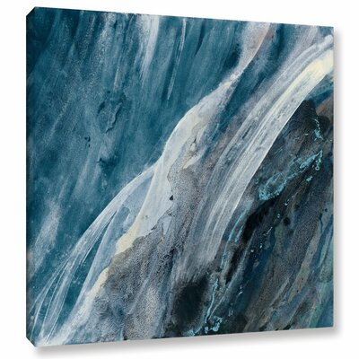 'Splash Indigo' Painting Print on Wrapped Canvas Size: 10
