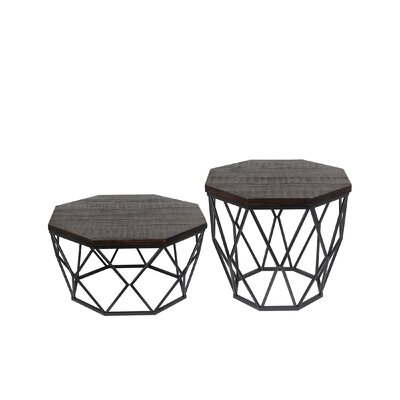 Castiglione 2 Piece End Table Set Color: Dark Brown
