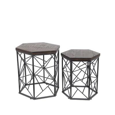 Corpus 2 Piece End Table Set Color: Dark Brown