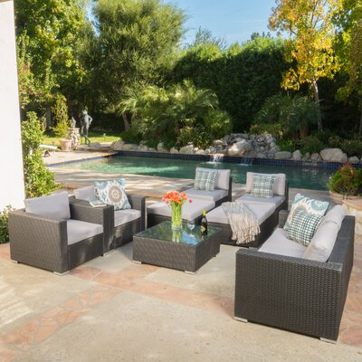 Benbow Wicker 9 Piece Seating Group Finish: Gray