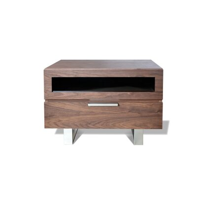 Colucci 1 Drawer Nightstand Color: Walnut