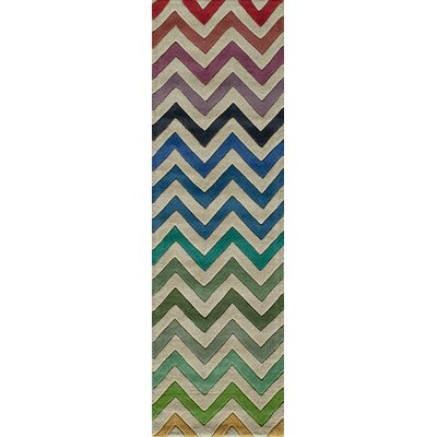 Sawyer Hand-Tufted Area Rug Rug Size: Runner 23 x 8