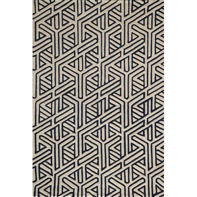 Sawyer Hand-Tufted Navy Area Rug Rug Size: 36 x 56