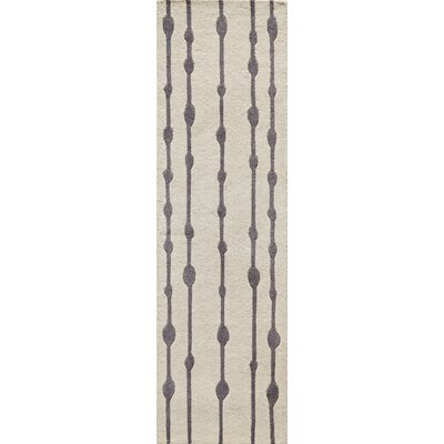 Sawyer Hand-Tufted Gray Area Rug Rug Size: 5 x 8