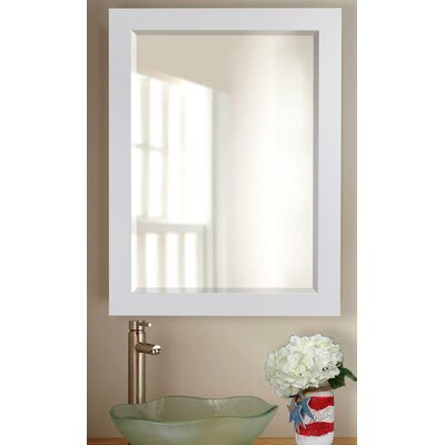 White Beveled Vanity Wall Mirror