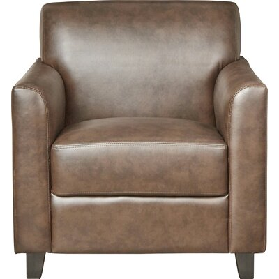 Muldoon Leather Lounge Chair Seat Color: Brown