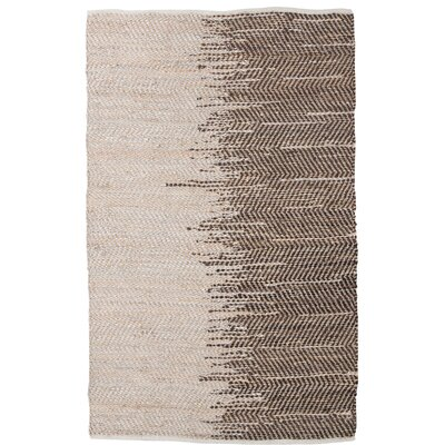 Brandow Hand-Woven Brown Area Rug Rug Size: 5 x 76