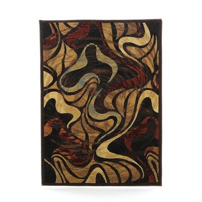 Sherrick Black Area Rug Rug Size: 53 x 72