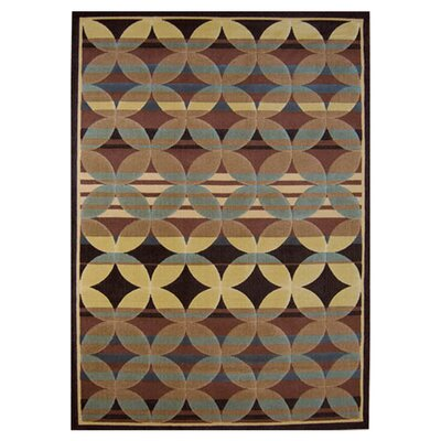 Sherrick Brown / Blue Area Rug Rug Size: 53 x 72