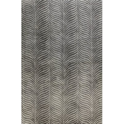 Magaw Hand-Tufted Grey Area Rug Rug Size: 5'6