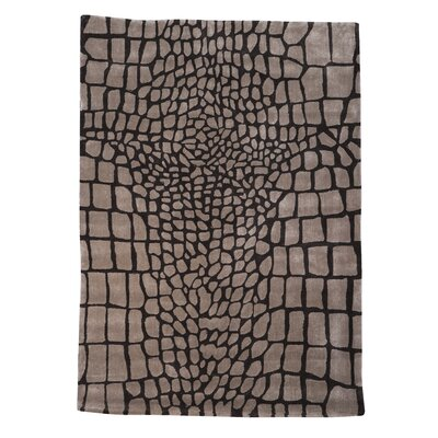 Brodbeck Hand-Tufted Brown/Tan Area Rug Rug Size: 5 x 7