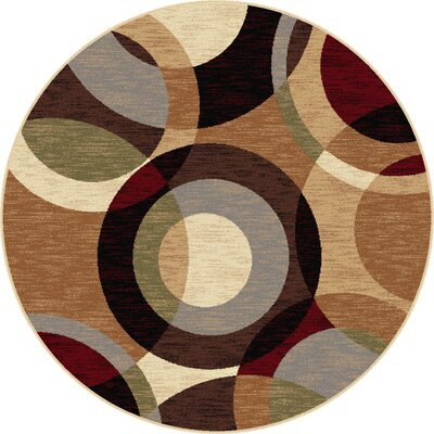 Hartle Brown Area Rug Rug Size: Round 53