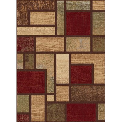 Soares Brown Area Rug Rug Size: 53 x 73