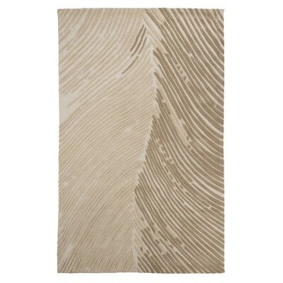 Barrentine Hand-Tufted Cream Area Rug Rug Size: 5 x 8