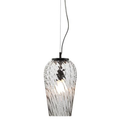 Mizell 1-Light Pendant Shade Color: Clear
