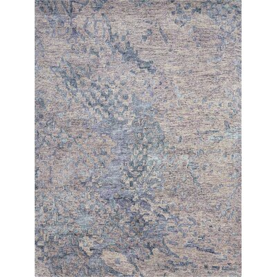 Nyssa Hand-Tufted Purple Area Rug Rug Size: 99 x 139