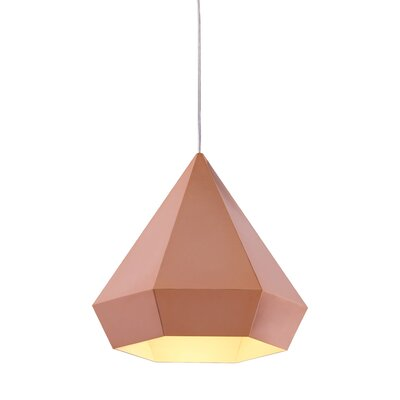 Trosper 1-Light Mini Pendant Finish: Rose Gold, Bulb Type: E12