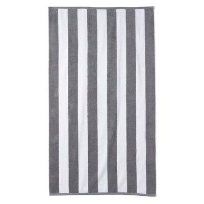 Cotton Stripe Beach Towel Color: Grey