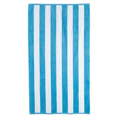 Cotton Stripe Beach Towel Color: Aqua
