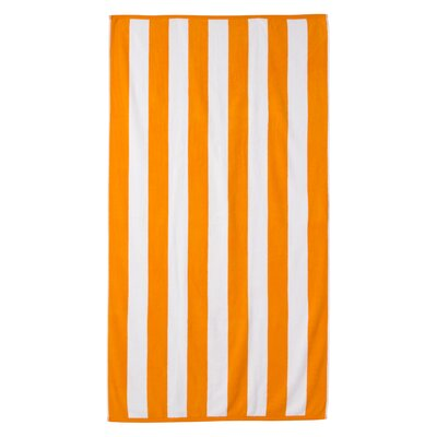 Cotton Stripe Beach Towel Color: Orange