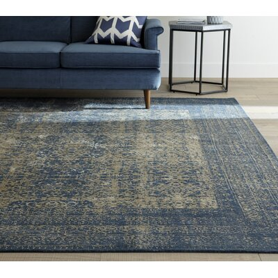 Bandhura Blue Rug Rug Size: Rectangle 92 x 122
