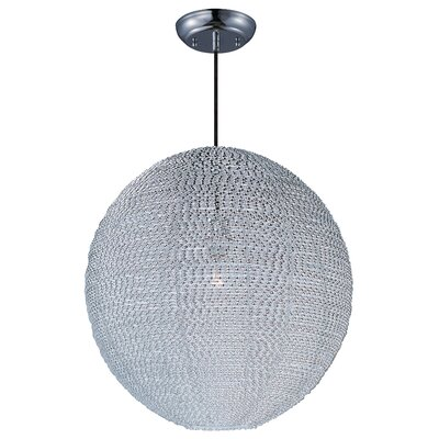 Camile 1-Light Globe Pendant Finish: Polished Chrome