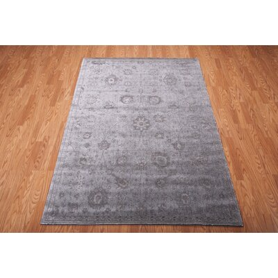Diona Graphite Area Rug Rug Size: 53 x 75