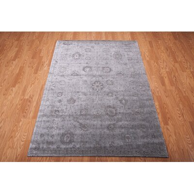 Diona Graphite Area Rug Rug Size: 76 x 106