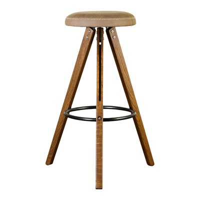Bequette Large Bar Stool Upholstery: Brown