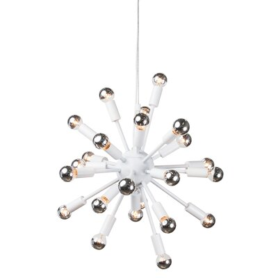 Carmona Sputnik 24-Light Pendant Finish: White