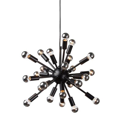 Carmona Sputnik 24-Light Pendant Finish: Black