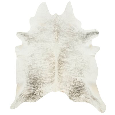Friedman Light Grey Cowhide Rug Size: Novelty 6 x 6