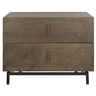 Garver 2 Drawer Side Table Finish: Dark Brown/Black