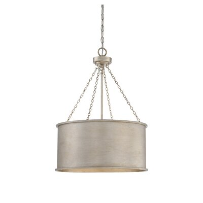 Cranston 4-Light Drum Pendant Finish: Silver Patina