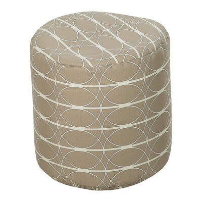 Dubose Tan Outdoor Pouf