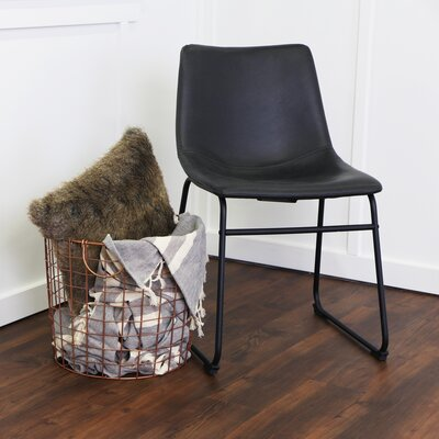 Aurik Side Chair Upholstery: Black