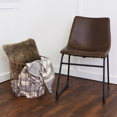 Aurik Side Chair Upholstery: Brown