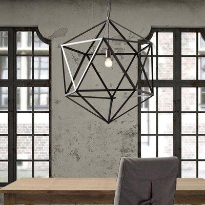 Fowlkes Prism 1-Light Foyer Pendant Size: 21.3 H x 21.3 W x 21.3 D
