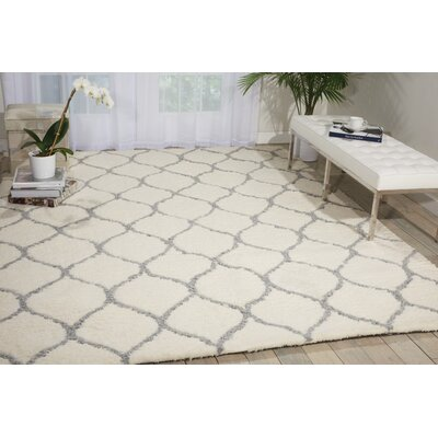 North Moore Hand-Tufted Ivory Area Rug Rug Size: Rectangle 76 x 96