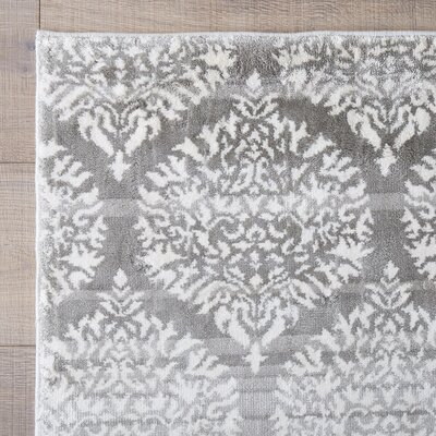 Doylestown Gray Area Rug Rug Size: Rectangle 10 x 13