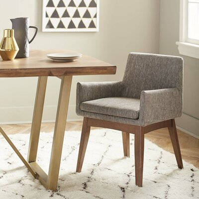 Macalester Arm Chair Upholstery: Powdered Granite