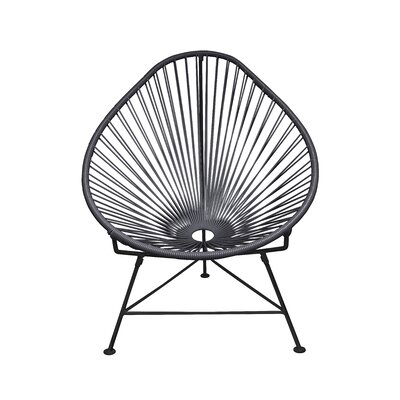 Canela Papasan Chair Finish: Gray, Finish: Chrome