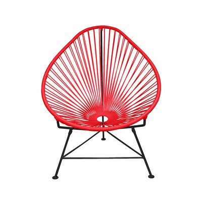 Canela Papasan Chair Finish: Red, Finish: Chrome