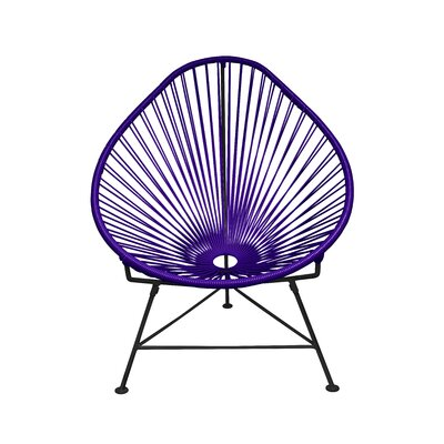 Canela Papasan Chair Finish: Purple, Finish: Chrome