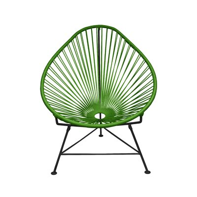 Canela Papasan Chair Finish: Olive Green, Finish: Chrome