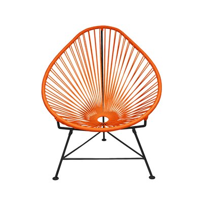 Canela Papasan Chair Finish: Orange, Finish: Chrome