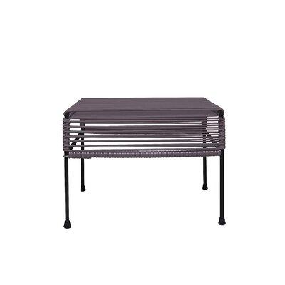 Maspeth Ottoman Frame Color: Black, Weave Color: Grey