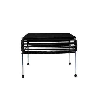 Maspeth Ottoman Weave Color: Black, Frame Color: Chrome