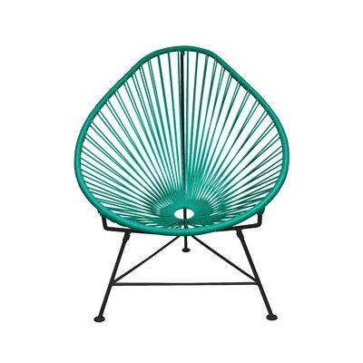 Canela Papasan Chair Finish: Turquoise, Finish: White