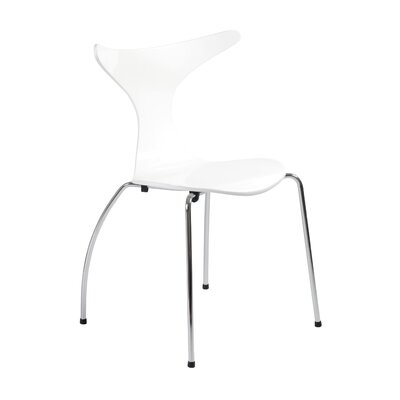 Merope Side Chair Upholstery: White